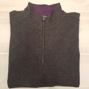 {L} Robert Graham Calvary Quarter Zip Sweater